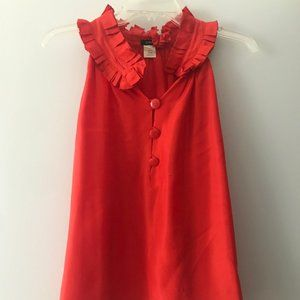 JCrew red silk blouse (small)